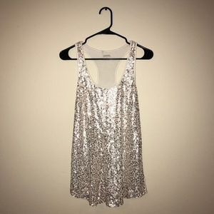 Gold Sequin Tank Top, Express